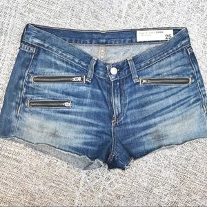 Rag & bone women's 25 zipper denim jean shorts